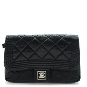 Chanel Backpack Quilted Nylon Sports Line Black